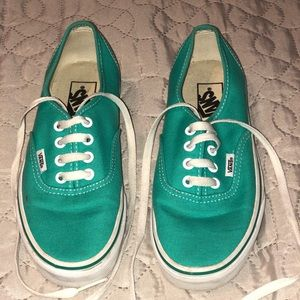 Vans Sneakers Robin's Egg Blue Color Gently Used